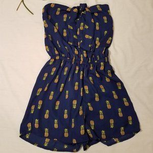 Alya Small Pineapple Romper With A Keyhole Front